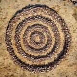Four circles of stones Royalty Free Stock Photos