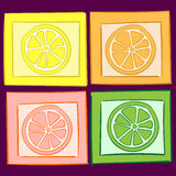Four citruses Royalty Free Stock Photography