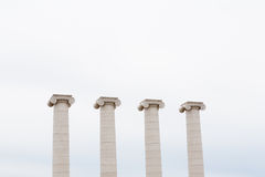 Four classic columns Royalty Free Stock Images