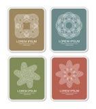 Four classic design elements. An illustration of classic design elements Royalty Free Stock Images