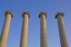 Four classical columns Stock Photography