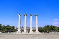 Four classical columns Stock Photos