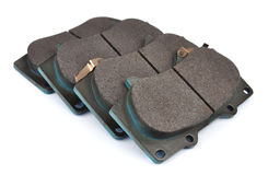 Four clean  disc brake pads. Royalty Free Stock Images