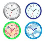 Four clocks Stock Images