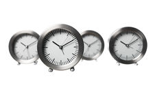 Four clocks. Toward white background Stock Image