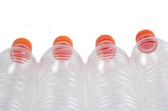 Four closed plastic bottles Royalty Free Stock Image