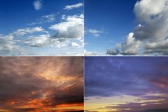 Four cloudscapes Royalty Free Stock Image