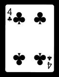 Four of clubs playing card, Stock Images