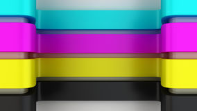 CMYK panels Stock Photos