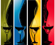 Four cocktail  banners Royalty Free Stock Images