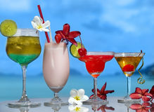 Four cocktails Stock Photography