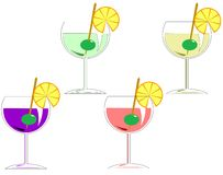Four cocktails Stock Image