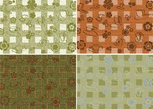 Four coffee backgrounds Royalty Free Stock Images