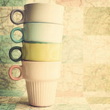 Four Coffee Cups Stock Image
