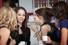 Four College Aged Girlfriends royalty free stock photos