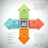 Four Color Arrows Infographic Royalty Free Stock Photo