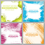 Four color backgrounds Royalty Free Stock Image