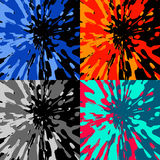 Four color blotches. Set of four splashe in different colors Royalty Free Stock Images