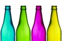 Four color bottles Royalty Free Stock Image