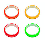 Four color bracelets Stock Images
