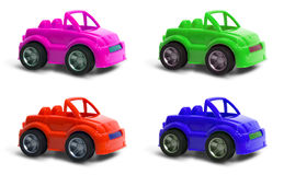 Four color cars Royalty Free Stock Images