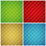 Four color checked background, vector Stock Photography