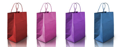 Four color Crumpled peper bag Royalty Free Stock Photos