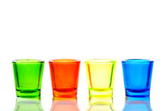 Four color glass Stock Photography
