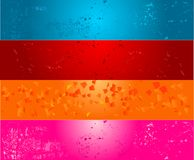 Four color grunge banners Royalty Free Stock Image
