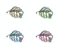 Four color hairpin Royalty Free Stock Photography