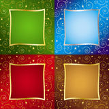 Four Color Holiday Backgrounds Royalty Free Stock Images