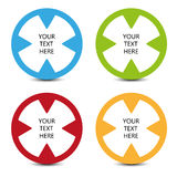 Four color icons with place for your text Royalty Free Stock Photos