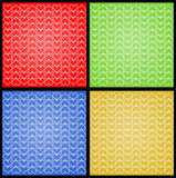 Four Color Lines of Hearts Stock Photo