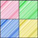 Four Color Diagonal Lines Stock Photography