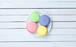 Four color macarons Royalty Free Stock Photo