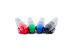 Four color markers Royalty Free Stock Photo