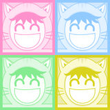 Four color mask Royalty Free Stock Image