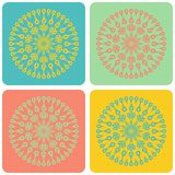 Four color ornaments Royalty Free Stock Photos