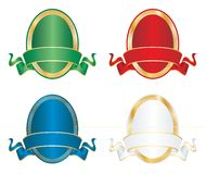 Four color oval Royalty Free Stock Image