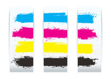 Four color paper Stock Image