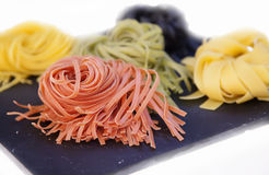 Four color pasta Royalty Free Stock Photography