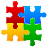 Four color puzzle background Royalty Free Stock Image
