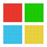Four color puzzle fields Royalty Free Stock Image