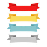 Four color ribbon patterns Stock Image