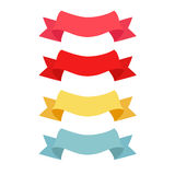 Four color ribbon patterns Stock Images