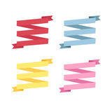 Four color ribbon patterns Royalty Free Stock Images