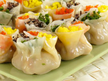 Four Color Siu Mai Royalty Free Stock Photo