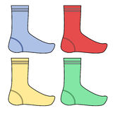Four color socks Royalty Free Stock Photography