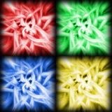 Four Color Soft Flower Swirls Background Stock Image