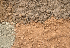 Four color soil background Stock Photography